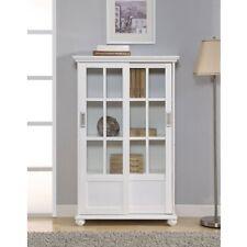 Small Bookcase Cabinet Sliding Glass Doors China Curio Photo Display Storage