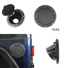 Black Fuel Filler Door Cover Gas Tank Cap Fits Jeep Wrangler TJ 1997-2006