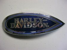 HARLEY DAVIDSON LH & RH CHROME AND BLUE GAS TANK EMBLEM MEDALLION 1999 FLSTS