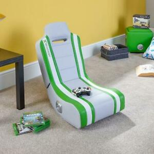 X Rocker Gaming Chair for Kids 2.0 Speakers Folding Floor Seat Shadow Green