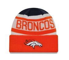 385121660 NFL Denver Broncos Team Logo New Era Biggest Fan 2.0 Cuff Knit Winter  Beanie Hat