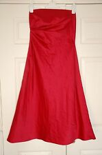 New Pronuptia 10 Holly Red Bandeau Fit & Flare Dress Party Xmas Gift