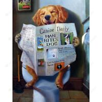 Toilet Dog 5D Full Drill Diamond Painting Embroidery Cross Stitch Kits Art Decor
