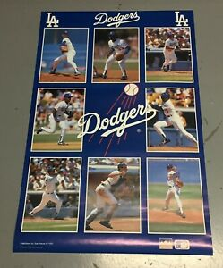 Vintage 1988 Los Angeles Dodgers Starline Baseball Poster (22x34) Hershiser etal