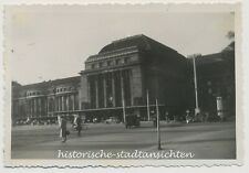 Leipzig - Hauptbahnhof - Autos Passanten - Altes Foto 1936