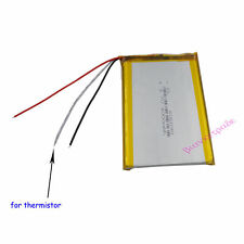3.7V 4000 mAh Polymer Li Battery 3 wires for thermistor For GPS Tablet PC 606090