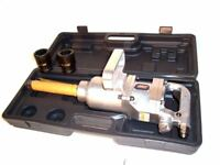 "1"" Inch Drive Air Impact Wrench Tool Gun 1"" dr Long Shank 2 Sockets 1900 lb HD"