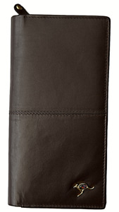 Genuine Ladies Leather Wallet with Kangaroo Pin Featuring Australian Opal Chips