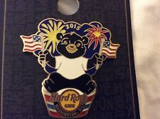 Hard Rock Cafe Washington Patriotic Black Bear Pin