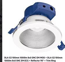 Round Recessed Ceiling Spotlight Cob led Downlight 4K White 100mm Tridonic Light