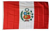 PERU  FLAG 3 x 5 '  FLAG -  NEW 3X5 INDOOR OUTDOOR COUNTRY FLAG