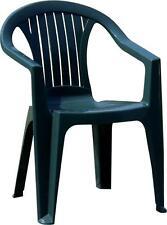 Sedia in Resina con Braccioli Impilabile VERDE giardino bar ristoranti alberghi