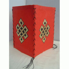 Lokta Paper Red Endless Knot lamp Shade,NEPAL