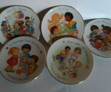 """Set Of 5 Avon Porcelain 5"""" mothers Day Collector's Plates 1990-1995"""