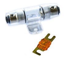KFZ Mini ANL Sicherungshalter für Kabel von 6-25 mm² Halterung + 40A Sicherung