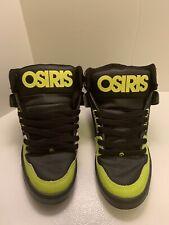 OSIRIS BRONX NYC 83 SKATE SHOES SIZE 10 NEON GREEN