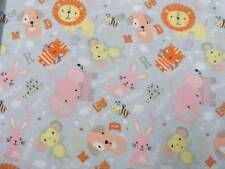 CRIB SHEET/FITTED/ FLANNEL/HANDMADE - ALPHABET ANIMALS AND LETTERS