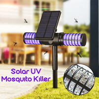 2200mAh 4 LED Solar Powered Mosquito Killer Bug Pest Insect Zapper Lamp Light
