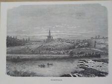 Gravure de presse 1890,Florenville