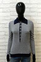 Pennypull Donna Taglia M Maglione Righe Cardigan Pullover Sweater Woman Cotone