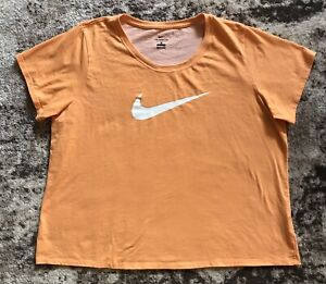 Nike Dri-Fit Womens Peach Tee Shirt Sz 2X