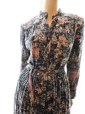 PUR VINTAGE 80  ROBE  EN PILOU  MOTIFS MONTAGNE   CHACOK T 42 /  DRESS