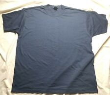 Vintage Fruit Of The Loom Best Navy Blue Single Stitch Blank Shirt Large In Usa