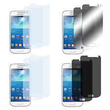 8 x Samsung Galaxy S4 Mini Klar + Matt + Spiegel + Privacy Displayschutz Folie