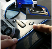 5m Blue Car Styling Moulding Strip Trim Adhesive Grill Interior Exterior deco