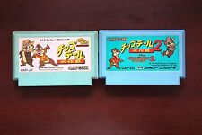 Famicom FC Chip and Dale Daisakusen Rescue Ranger 1 2 I II Japan games US Seller