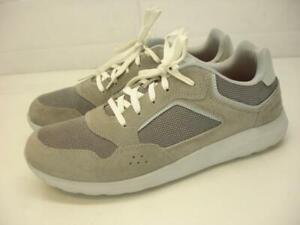 Men's 11 M crocs Kinsale Pacer Charcoal Gray Suede Leather Shoes Sneakers White