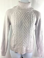 Elle Women Turtleneck Sweater Pullover XL Gray