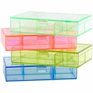 Mini Jewelry Bead Organizer & Plastic Storage Box, Stackable & Multi Colored