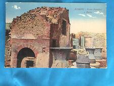 Pompei  Forno  Pubblico  e Mulini  vintage postcard Public BakeHouse and Mills
