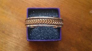 Navajo Sterling Silver 12K GF Overlay Cuff Bracelet by Darin Bill ~ 50 Grams