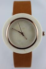 Bewell marmoruhr Women Watch 41MM LEATHER WRIST BAND CARRARA MARBLE Case & Dail