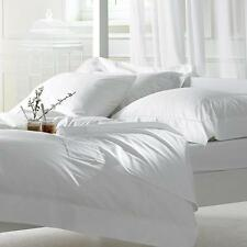 Pair of Egyptian Cotton 500 Thread Count White Super King Bolster Pillow Cases