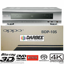 OPPO DIGITAL BDP-105D DARBEE MULTI REGION CODE FREE BLU-RAY PLAYER NEW SILVER