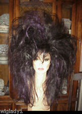 SIN CITY WIGS WILD HAIR 80s ROCK GLAM TEASED SO HOT FIERCE BROWN BIG DRAG QUEEN