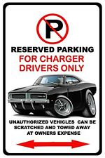 1968-70 Dodge Charger Muscle Car No Parking Sign NEW
