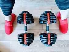 Weights - 5 to 52.5 lbs Adjustable Dumbbells (Pair). FREE US SHIPPING!
