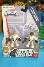 Playskool Disney Star Wars Galactic Heroes LUKE & HAN SOLO STORMTROOPER Set NEW!