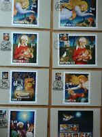 2011 CHRISTMAS PHQ 357 SET OF 8 STAMP CARDS FDI FRONT PICTORIAL HANDSTAMPS