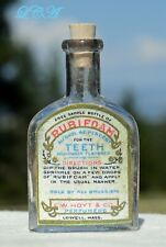 Tiny SAMPLE of RUBIFOAM liquid dentifrice FOR the TEETH antique bottle