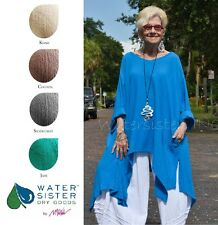 WATERSISTER Cotton Gauze  SUNNY  Long Tails Tunic Top OS (L-2X/3X)  DISC COLORS