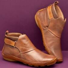 Womens Casual Boots Vintage Soft Flat Heel Ankle Shoes Winter Warm J