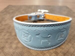LEATHER WHIPPET COLLARS DOG COLLAR SUEDE BACKING PADDED 12-14 INCH SAMPLE 64