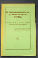 Die physikalische Unhaltbarkeit der Relativitäts-Theorie Einsteins 1932 js