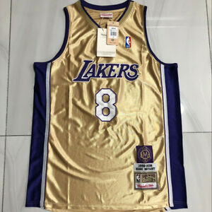 Kobe Bryant 8# Los Angeles Lakers Hall of Fame Memorial Edition Jersey Gold
