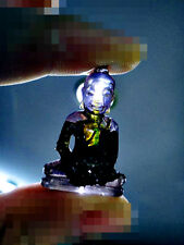 5093-LEKLAI NAGA EYE GEMS STONE OLD BUDDHA VINTAHE THAI AMULET MINIATURE PURPLE